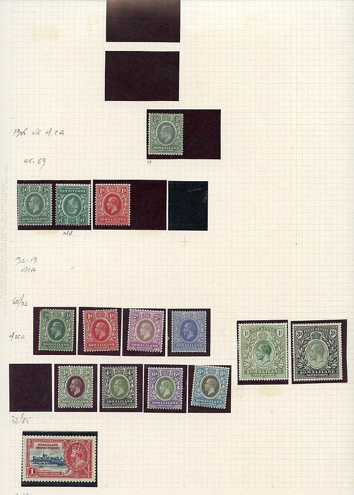 Collection on leaves (few earlies) 1921 to 1r & 3r M, 1942 set to