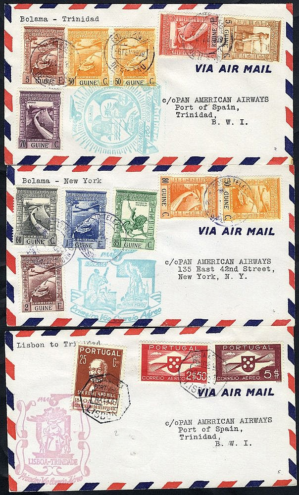 1936-45 flight covers incl. Crilly Airways first flight Lisbon/Lo