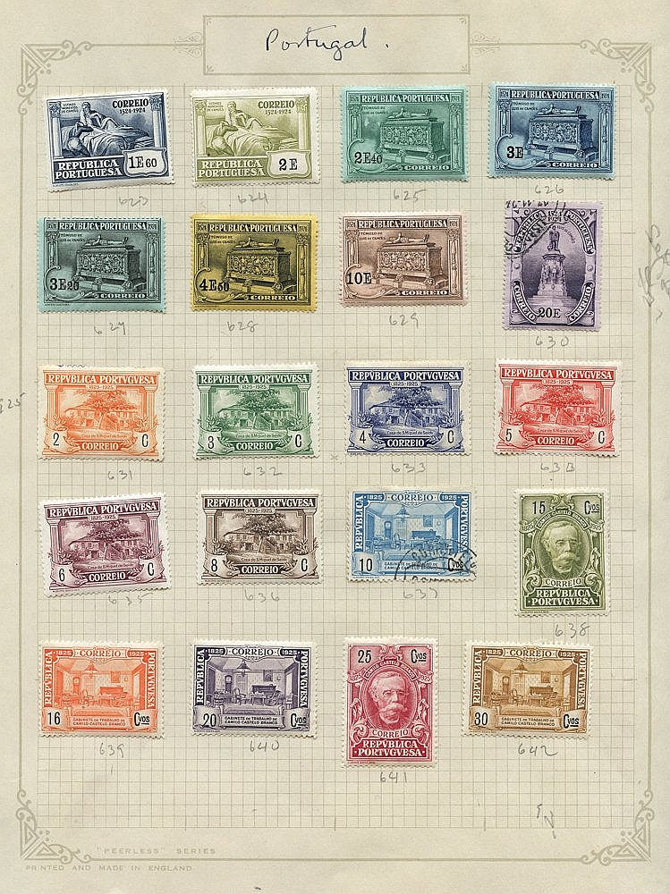 1924-28 chiefly M range on leaves incl. 1924 400th Birth Anniv of