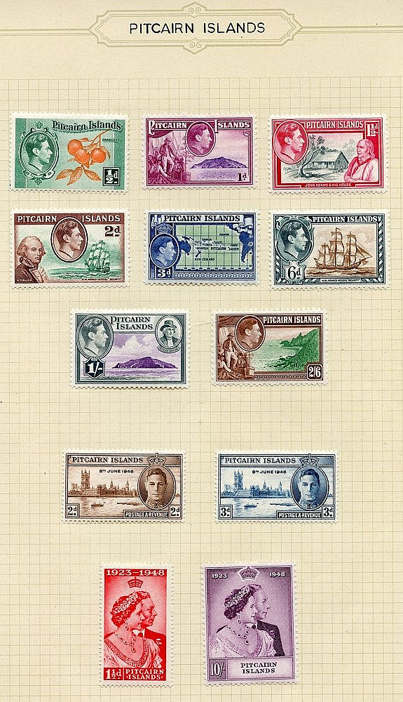 1940-67 fine M collection on leaves incl. 1940 KGVI Defin set, 19