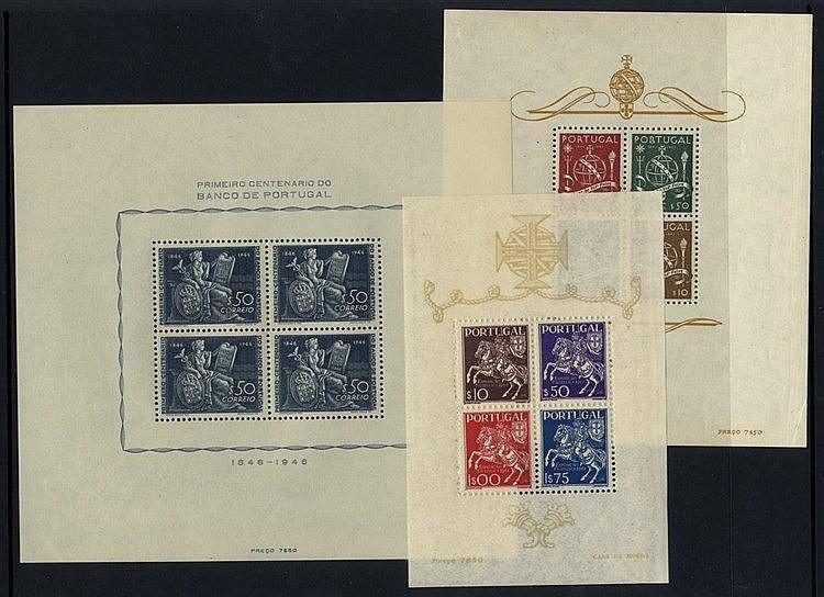 1944 National Philatelic Exhib M/Sheet, UM (corner crease), SG.MS
