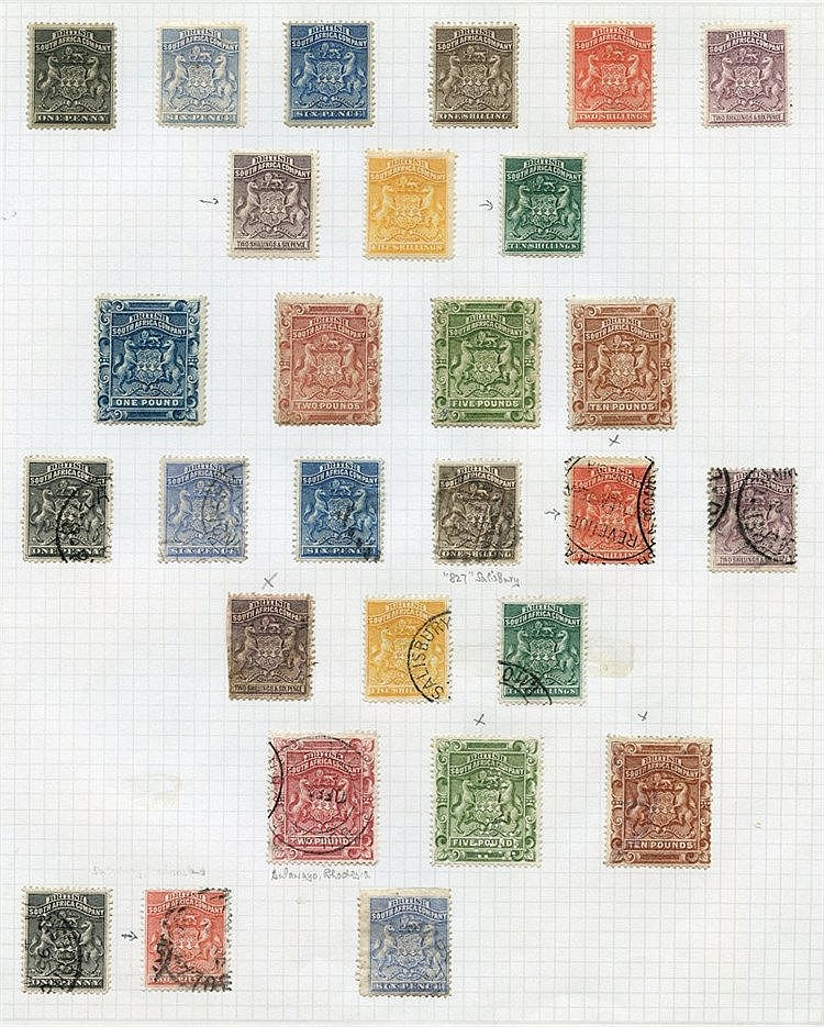 1892-1909 collection M & U on 13 album pages incl. 1892 M values
