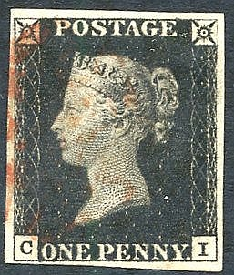 Plate 1b CI, good to large margins, fine red MC. (1)