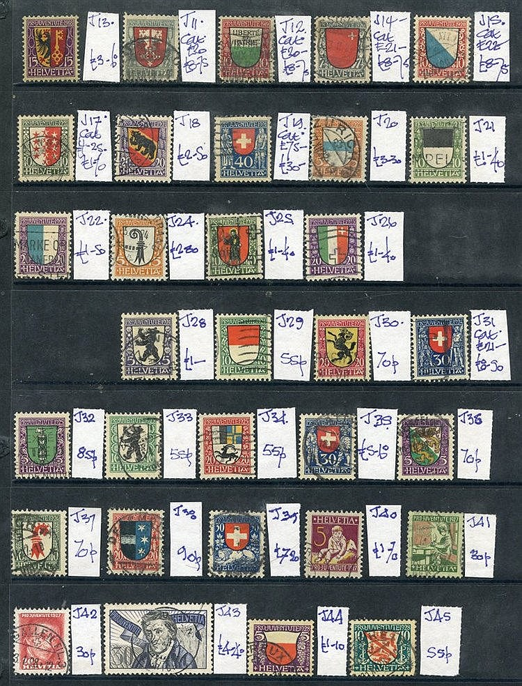 1915-62 collection of Pro-Juventute, good to FU - many sets (187)