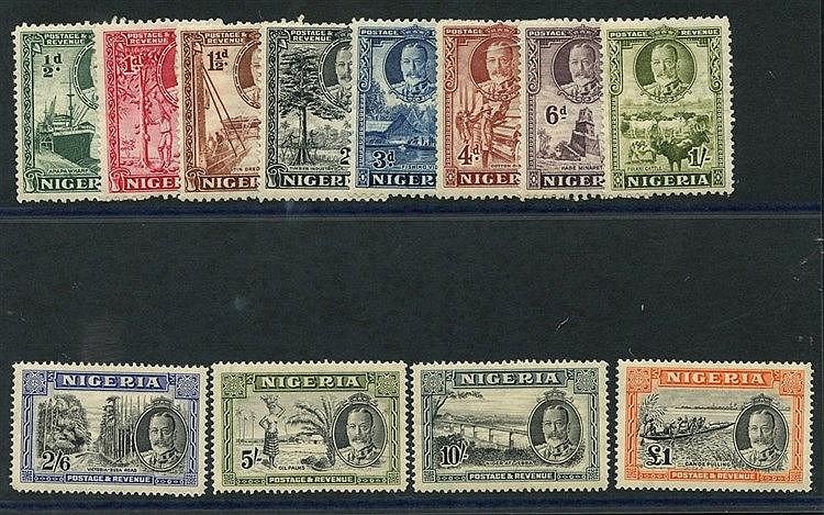 1936 Pictorial Defin set, fine M (10s gum crease), SG.34/45. (12)