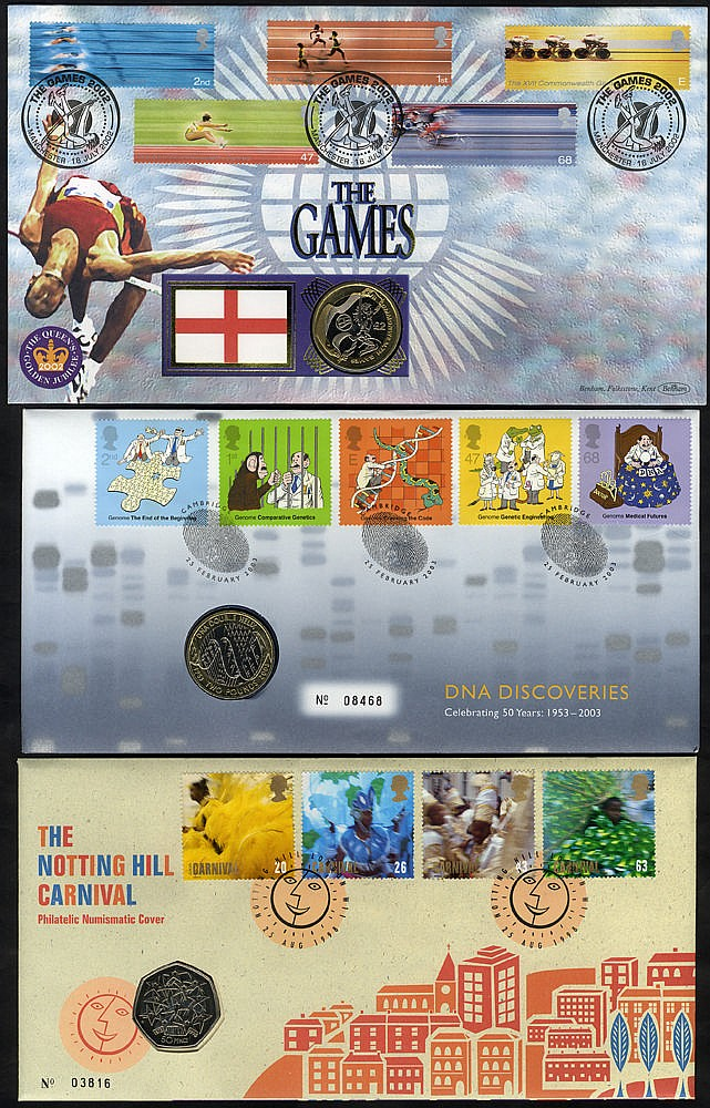 COIN/NUMISMATIC COVERS 1983-2007 mainly Royal Mail/Royal Mint col