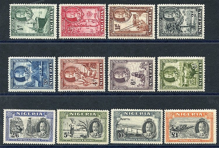 1936 Pictorial Defin set, fine M, SG.34/45. (12) Cat. £225