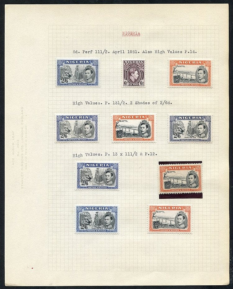 1937-49 M range on leaves incl. 1938 Defin set + perf variations,