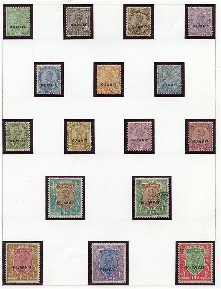 Collection on leaves with 1923 to 10r M (3a U), extra 1r U, 1929-