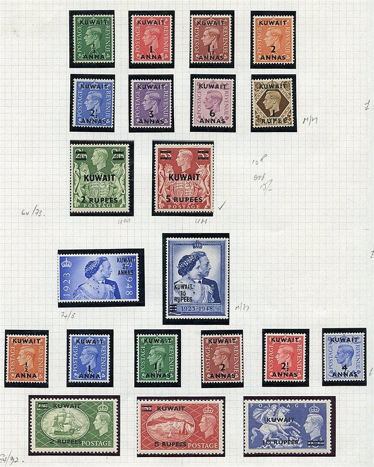 Collection on leaves with 1923-24 vals to 6a, 1948 to 5r, 1948 We