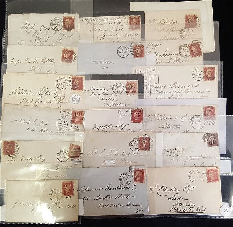 COLLECTION of mainly QV with a range of 1858 1d Plate numbers in