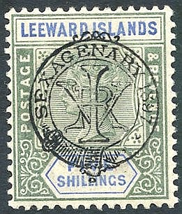 1897 Diamond Jubilee 5s green & blue fine M, SG.16. (1) Cat. £450