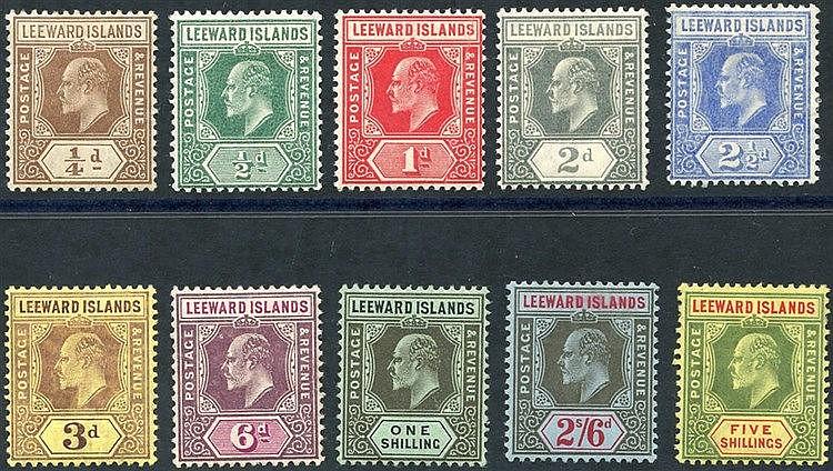 1907-11 MCCA set, fine M, SG.36/45 (10) Cat. £130