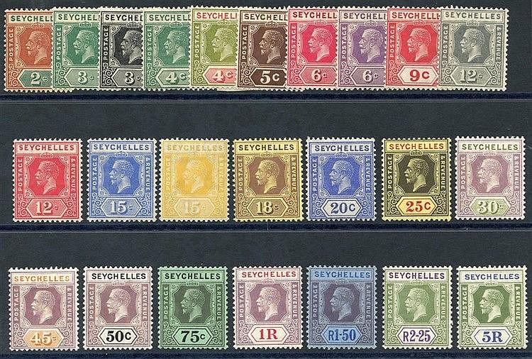 1921-32 MSCA set fine M, SG.98/123. (24) Cat. £190