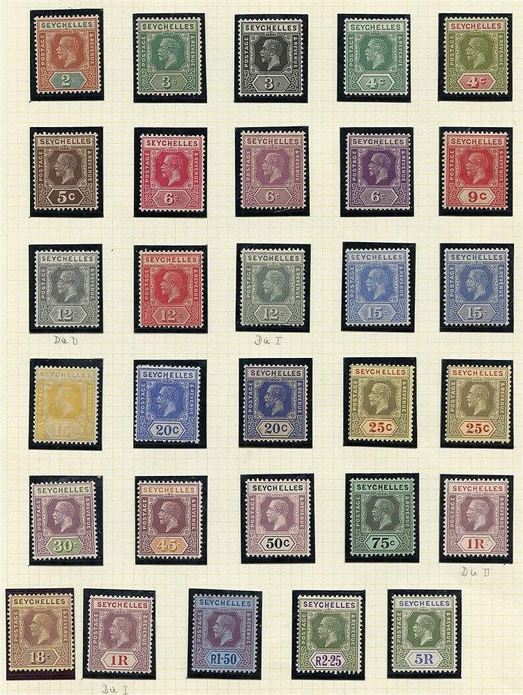 1921-32 MSCA set, M + odd extra shade Dies etc. SG.98/123. (30) C