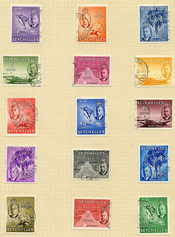 Collection on leaves with 1890-92 Die I & Die II sets, 1893 set t