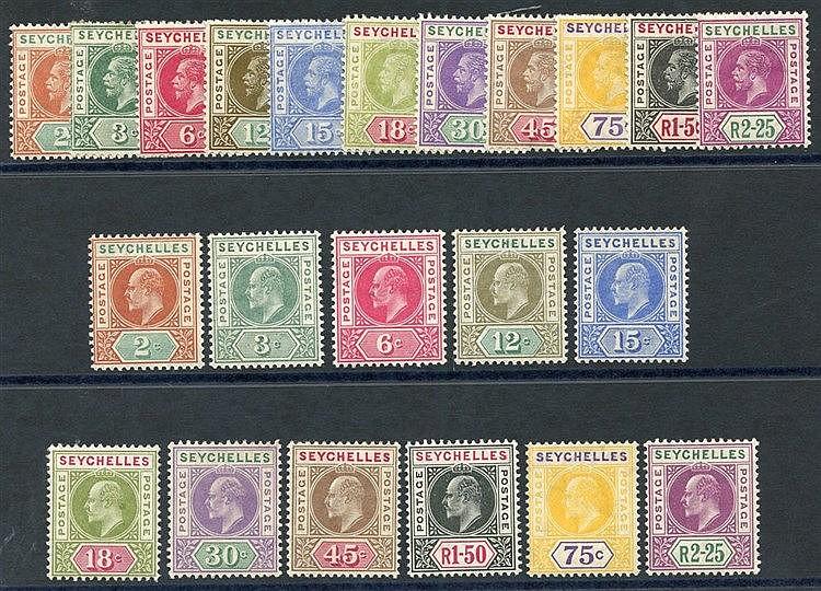 1906 MCCA set & 1912-16 MCCA set fine M SG.60/70, 71/81. Cat. £24