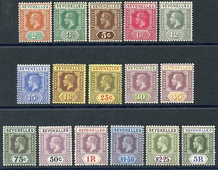 1917-22 MCCA set fine M, SG.82/97. (16) Cat. £225