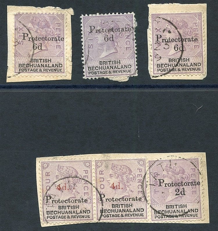 1888 4d on 4d pair (SG.44) & 2d on 2d (SG.42) together on a small