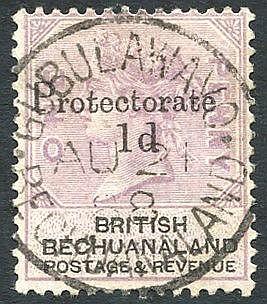 1888 Aug 21st GUBULAWAYO/BECHUANALAND full strike on Bechuanaland