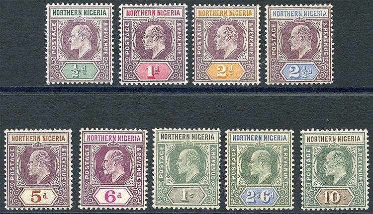 1902 CCA set, M (6d unused), SG.10/18. (9) Cat. £170