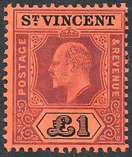 1911 MCCA £1 purple & black/red fine UM set SG.93. (1) Cat. £275