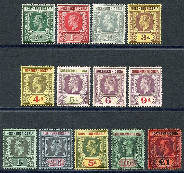 1912 MCCA set to 5s M, 10s & £1 VFU, SG.40/52. (13) Cat. £220