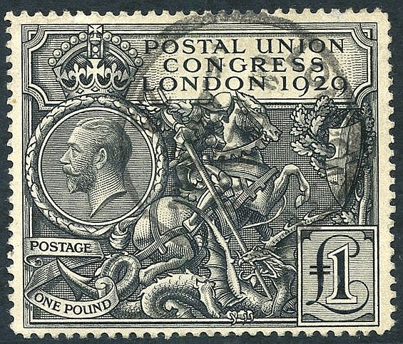 1929 £1 PUC, FU with London c.d.s, SG.438.