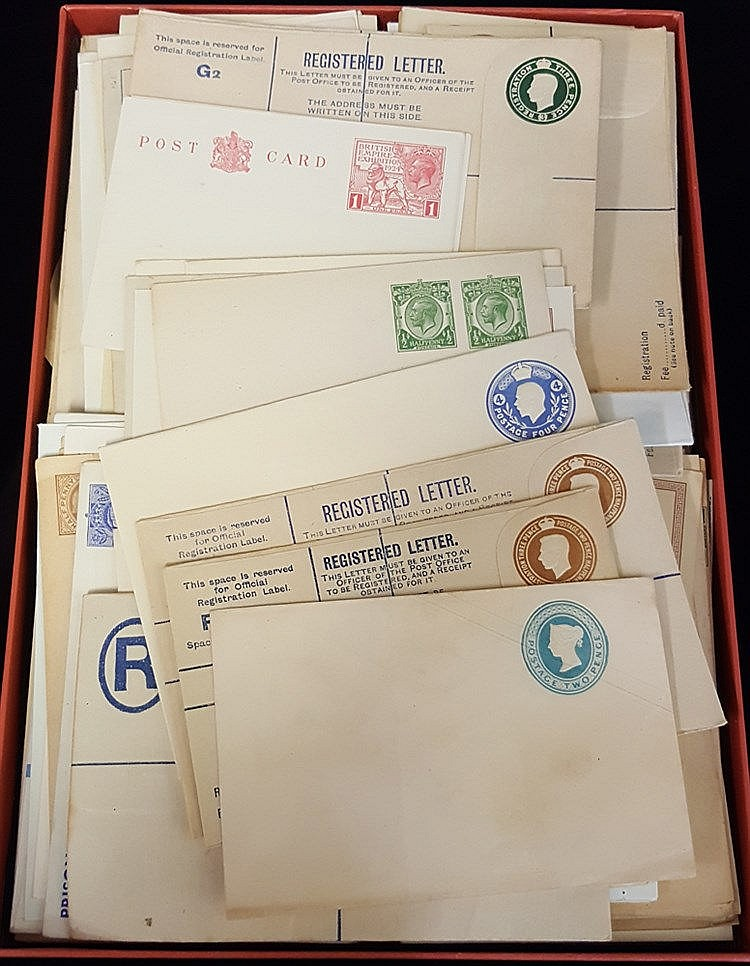QV-QEII accumulation of approx 500 unused items incl. postcards,