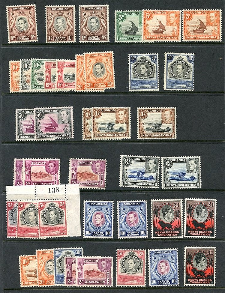 1938-54 duplicated M selection, a few faults but including a nice