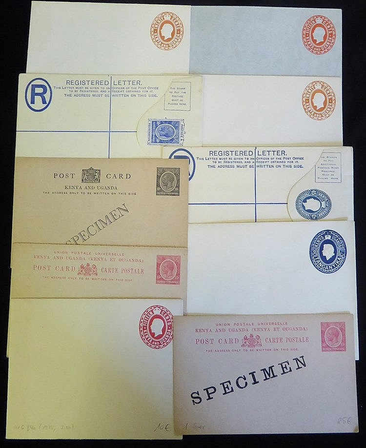 20thC range of elusive postal stationery cards & reg envelopes, F