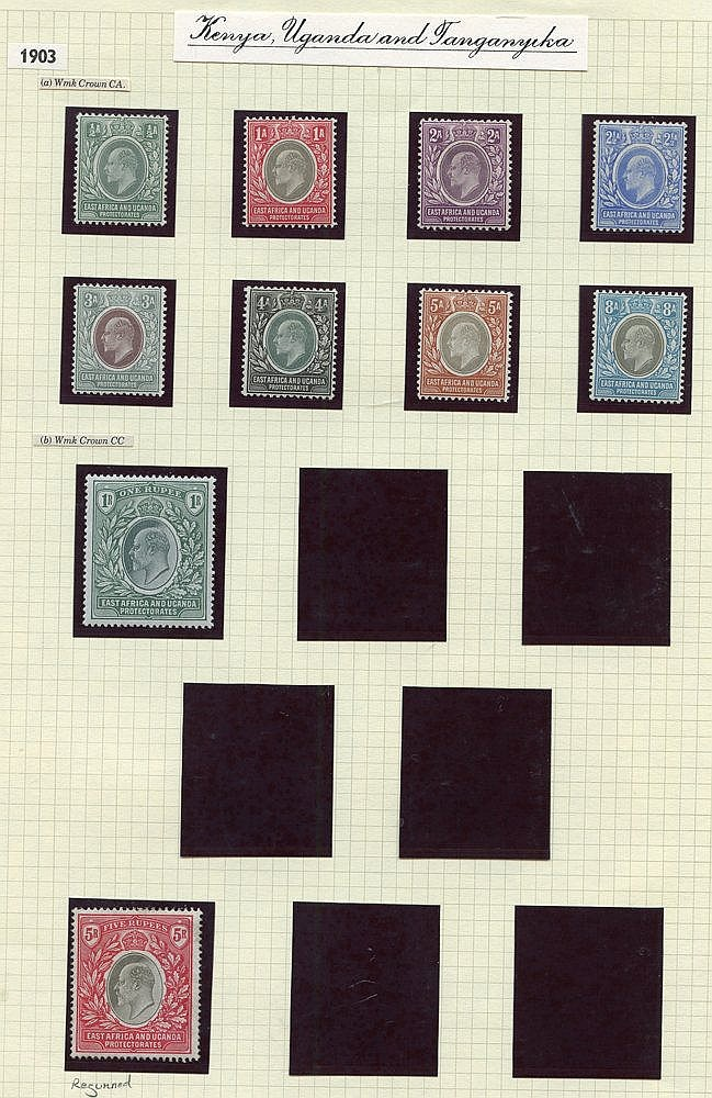1903-04 ½a to 5r (2) - one re-gummed, fine M, SG.1/13, Cat. £810