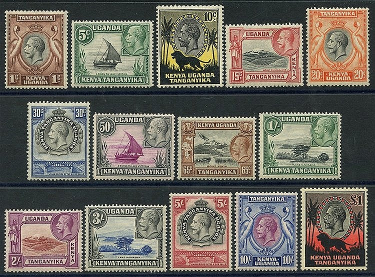 1935-37 Pictorial Defin set, fine M, SG.110/123 (14) Cat. £400