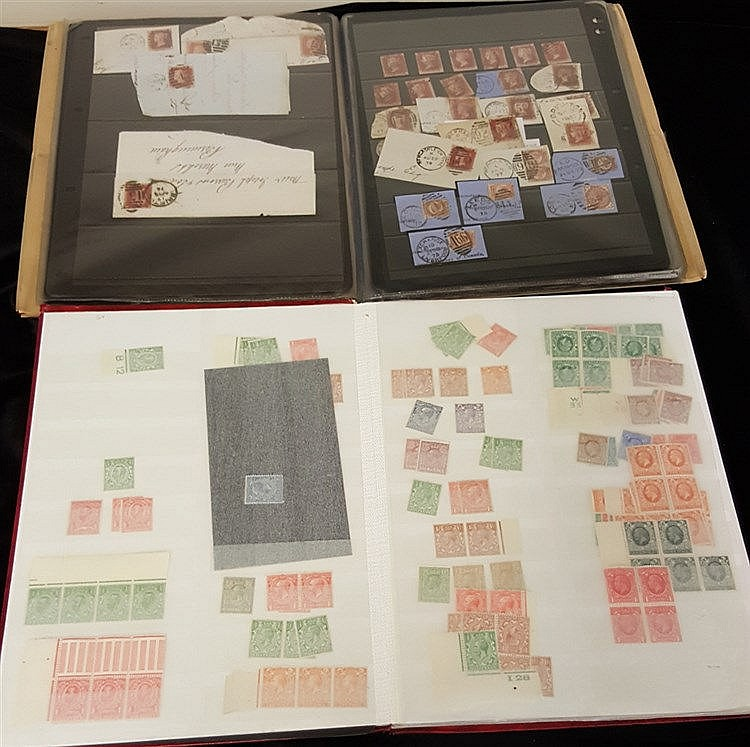 QV-QEII miscellaneous ranges in two stock books from 1841 1d reds
