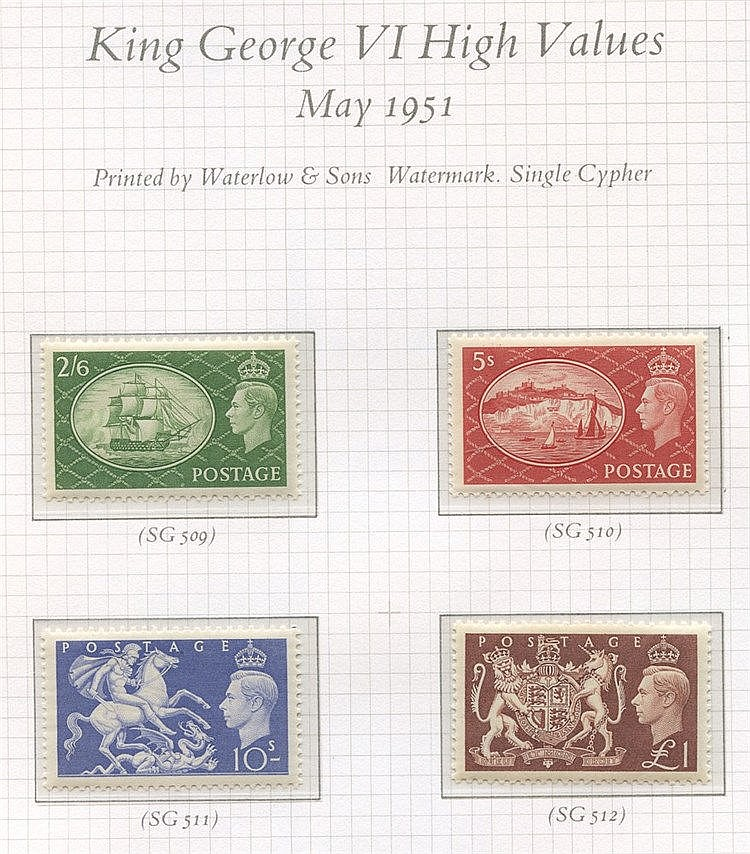 1840-1970 COLLECTION of M & U in three SG Oriel albums, highlight
