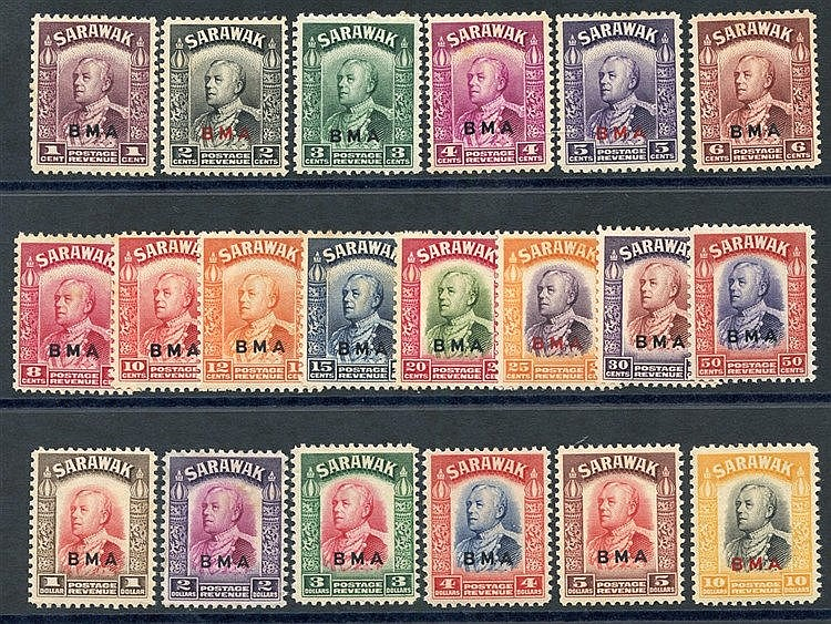 1945 BMA optd set UM (some toning or tones are present) SG.126/14