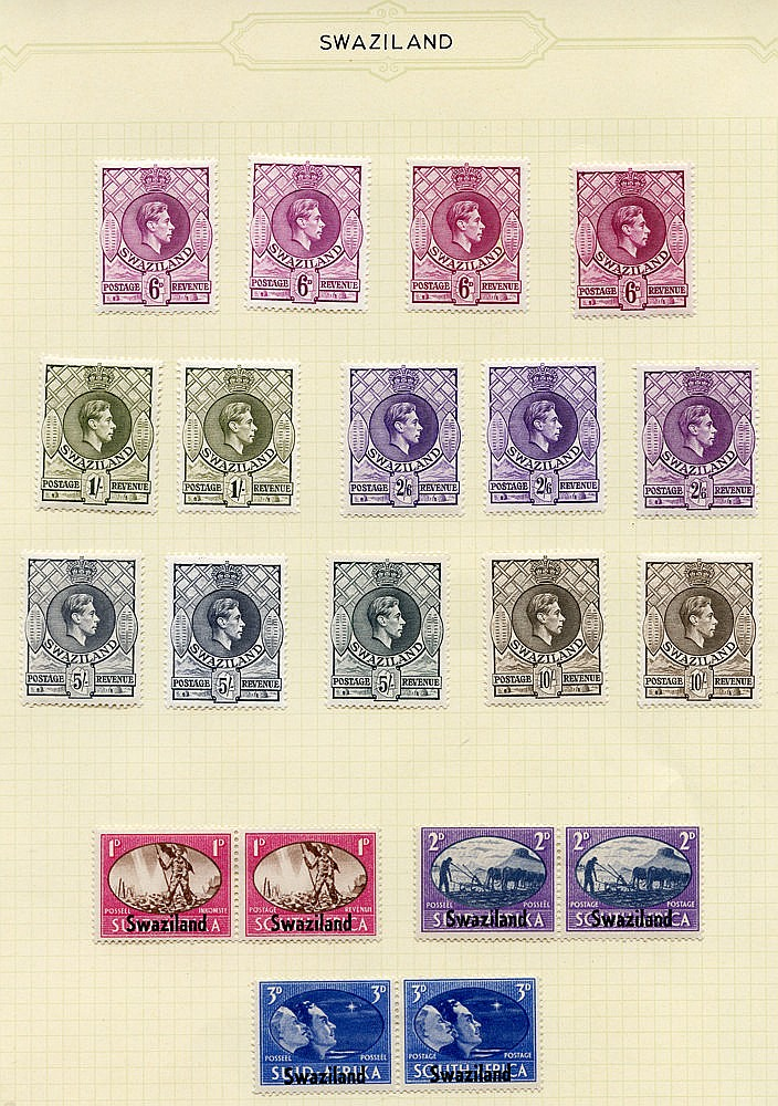 1935-67 fine M collection on leaves incl. 1933 KGVI set to 1s, 19
