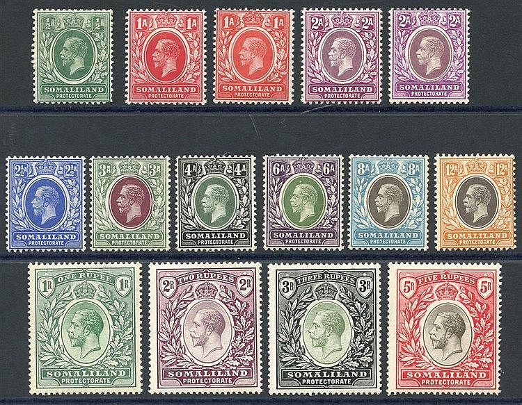1912-19 MCCA set, M (2½a thinned), SG.60/72. Cat. £225