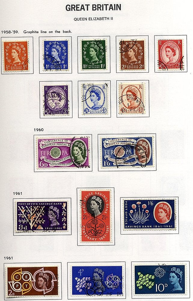 1840-2007 COLLECTION of good to VFU housed in two Davo albums inc