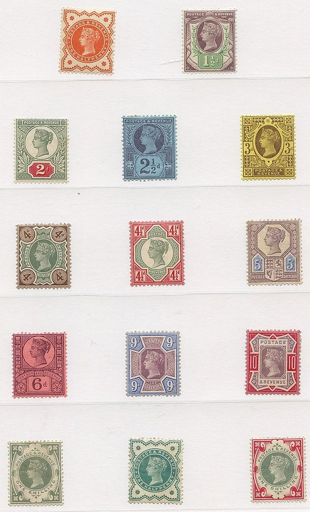 QV-QEII M or UM & FU ranges in a multi ring album. Highlights inc
