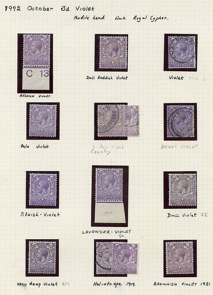 1912-34 collection of M & U on leaves commencing with 1912 Royal