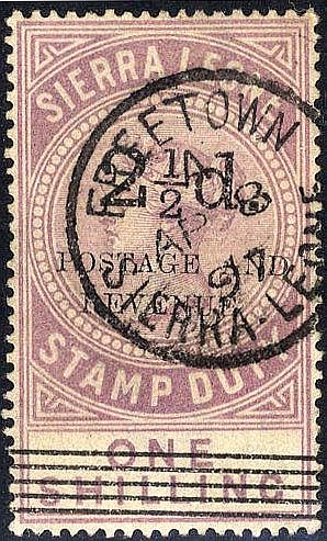 1897 2½d Surcharge (Type 13) & 5 thin bars, with opt Type 14 on f