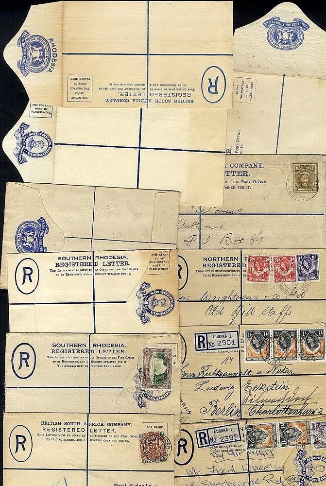 Northern & Southern Rhodesia 20thC group of registered envelopes