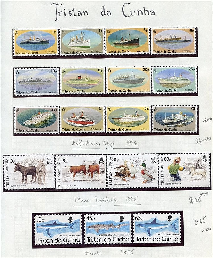1967-96 collection of UM defins, commems & M/Sheets. (315 + 15 m/
