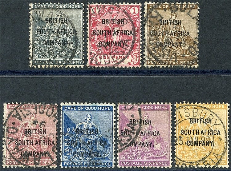 1896 C.O.G.H ovpts set FU, SG.58/64. (7) Cat. £350.