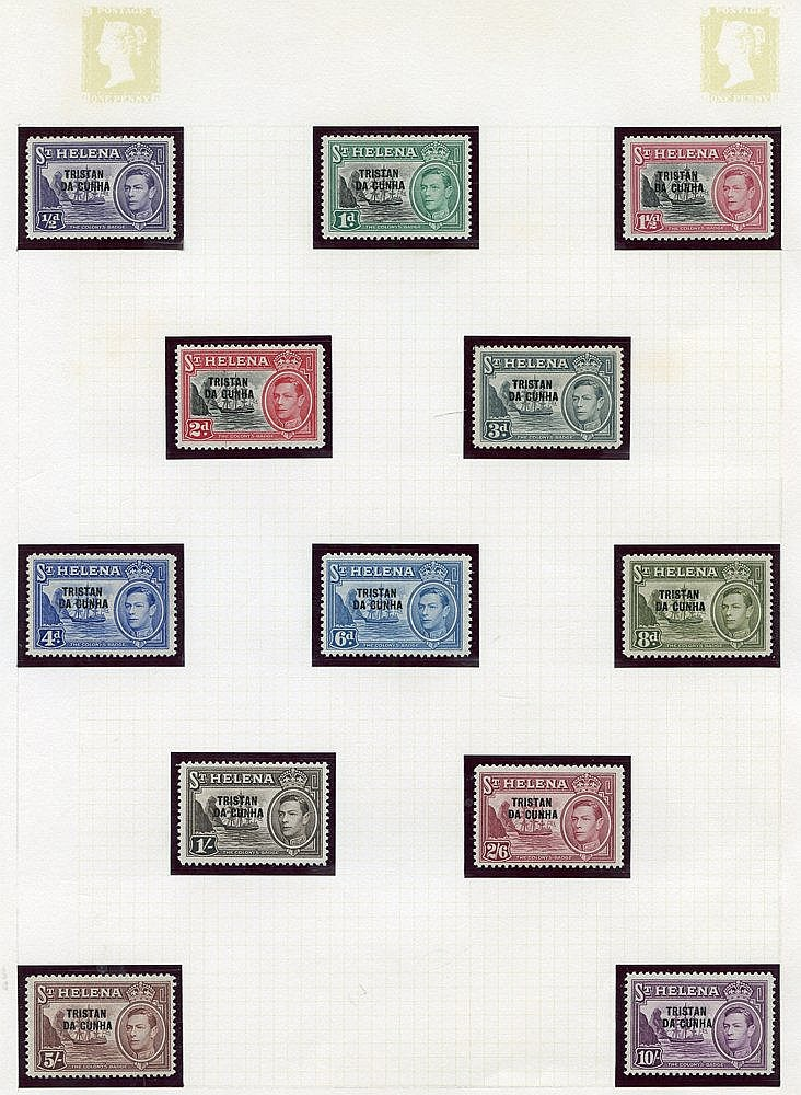 Collection on leaves with 1952 set to 10s, 1954 to 10s, 1960 to 1