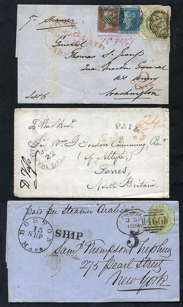 TRANSATLANTIC - 1797-1862 entire letters, covers, part cover & a