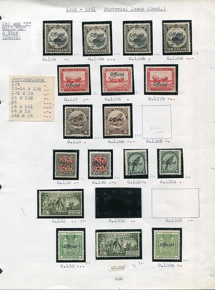 1927-61 fine M (many UM) range of Officials incl. 1927 1d Admiral