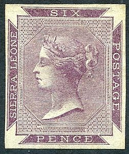 1859-74 No Wmk 6d dull purple on bluish paper, an imperforate Pla