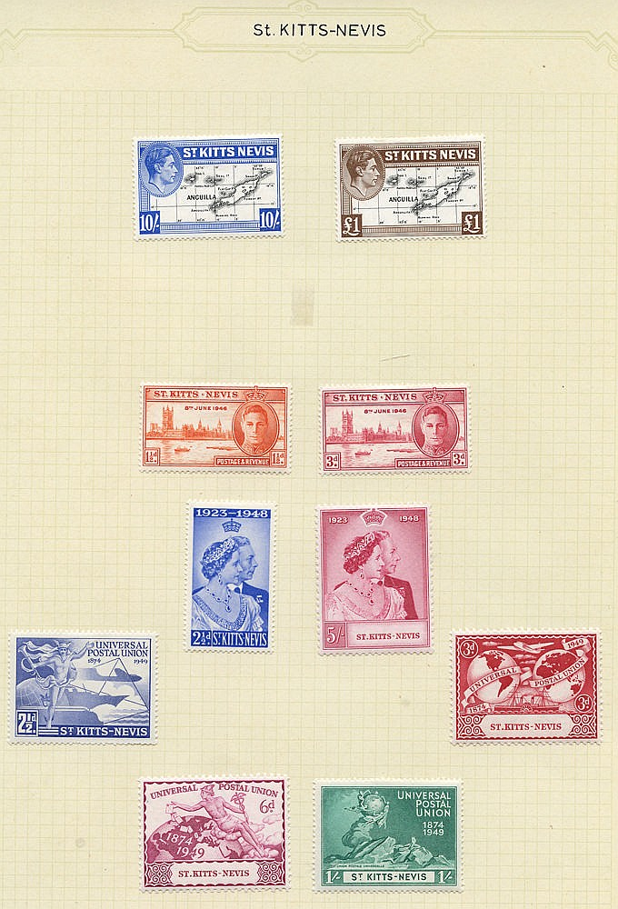 1935-67 fine M collection on leaves incl. 1935 Jubilee set, 1938-